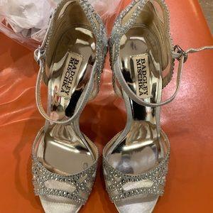 Badgley Mischka Tansy Embellished Sandal Heels